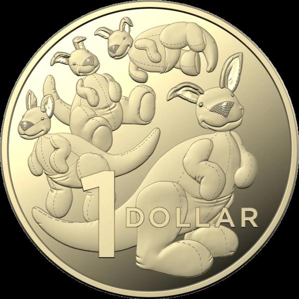 Австралия монета 1 доллар Плюшевый Кенгуру, реверс