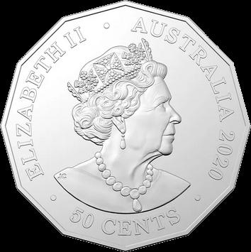Австралия монета 50 центов Рождественская монета, аверс