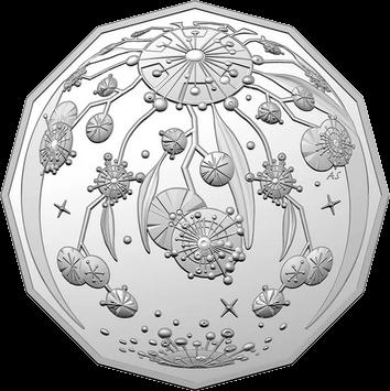 Австралия монета 50 центов Рождественская монета, реверс