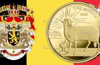 Бельгия монета 50 евро Готика - Ян ван Эйк