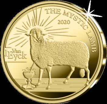 Бельгия монета 50 евро Готика - Ян ван Эйк, реверс