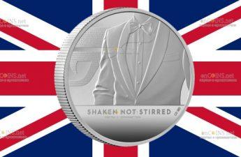 Британия монета 5 фунтов Встряхнуть, не перемешать