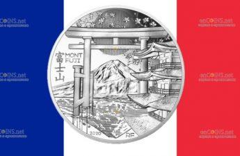 Франция монета 10 евро Гора Фудзияма