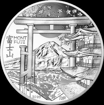 Франция монета 10 евро Гора Фудзияма, реверс