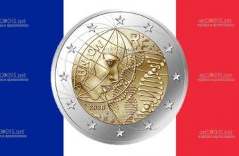 Франция монета 2 евро медицинские исследования
