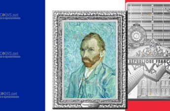 Франция монета 250 евро Автопортрет Ван Гога