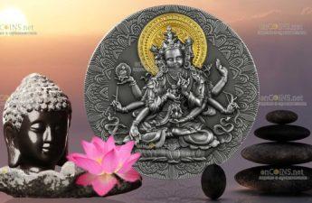 Камерун монета 2000 франков КФА Будда