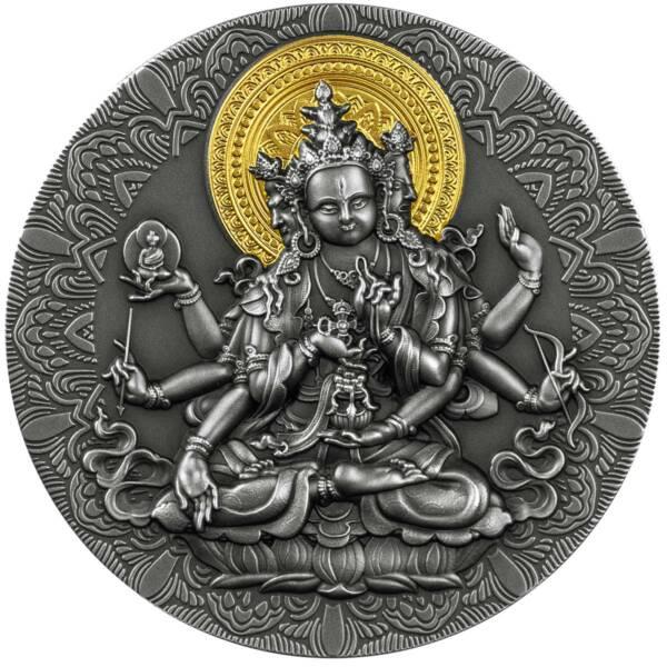 Камерун монета 2000 франков КФА Будда, реверс