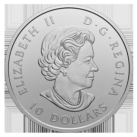 Канада монета 10 долларов Смена Караула, аверс