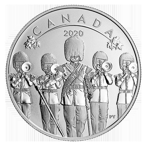 Канада монета 10 долларов Смена Караула, реверс