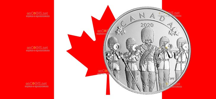 Канада монета 10 долларов Смена Караула