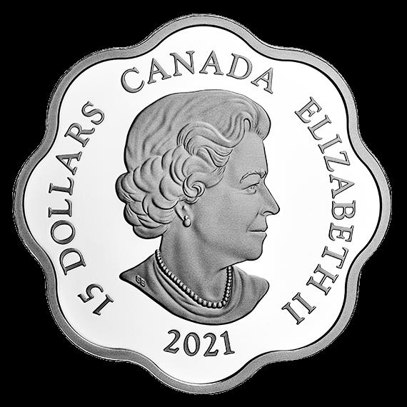 Канада монета 15 долларов Год Быка, реверс