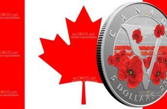 Канада монета 5 долларов Монета Памяти