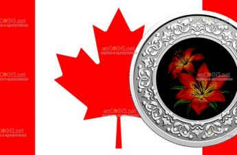 Канада монетау 3 доллара Западная лилия - цветочные эмблемы Канады