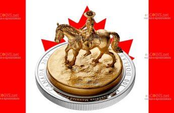 Канада отчеканила монету 100 долларов Лошадь и всадник
