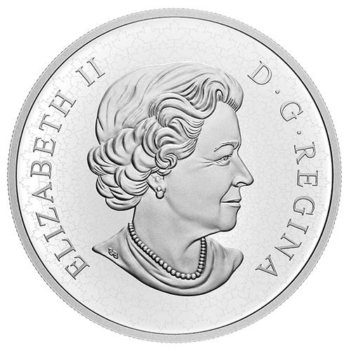 Канада отчеканила монету 100 долларов Лошадь и всадник, аверс