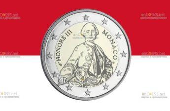 Монако монета 2 евро принц Оноре III