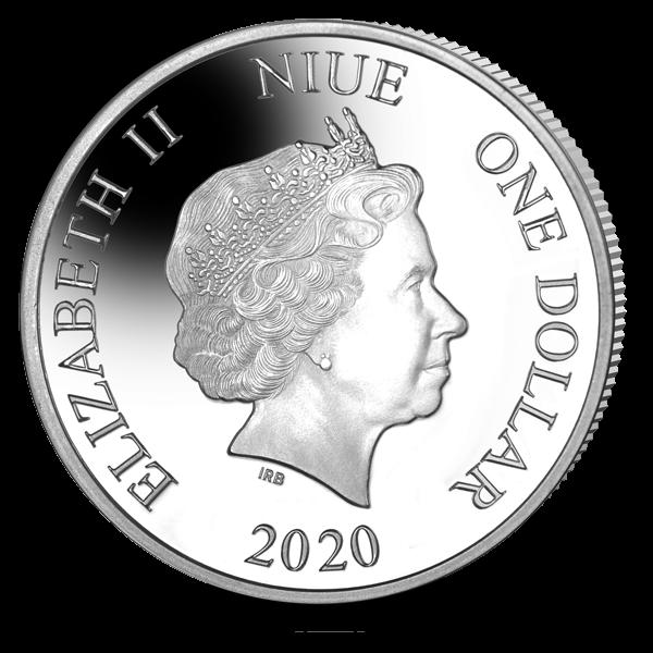 Ниуэ монета 1 доллар Австралийская коала, аверс
