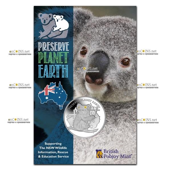 Ниуэ монета 1 доллар Австралийская коала, подарочная упаковка