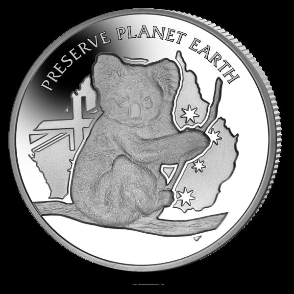 Ниуэ монета 1 доллар Австралийская коала, реверс