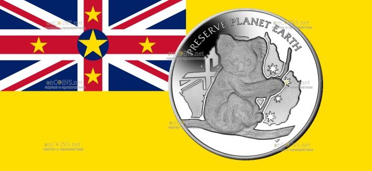 Ниуэ монета 1 доллар Австралийская коала