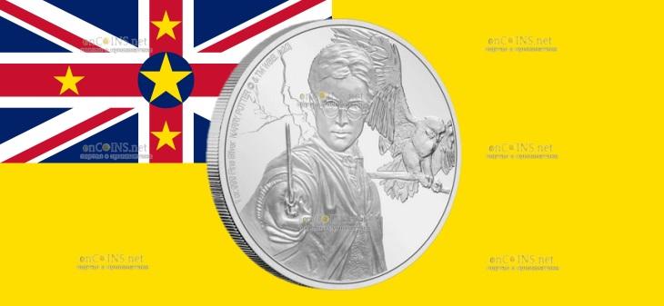 Ниуэ монета 2 доллара Гарри Поттер