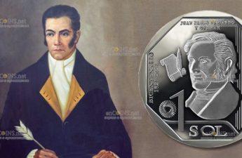 Перу монета 1 соль Хуан Пабло Вискардо и Гусман
