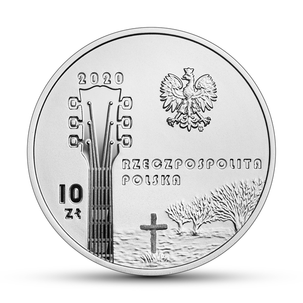 Польша монета 10 злотых Кшиштоф Кленчон, аверс