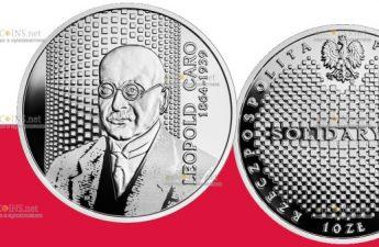 Польша монета 10 злотых Леопольд Каро