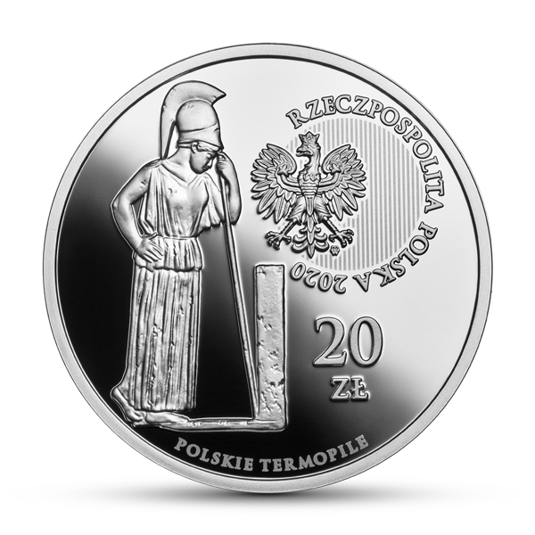 Польша монета 20 злотых Польские Фермопилы, аверс