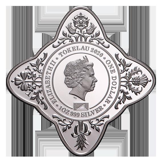 Токелау монета 1 доллар Первое публичное выступление Елизавета II, аверс