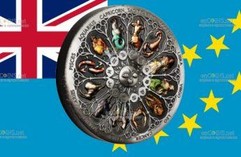 Тувалу монета 5 долларов Знаки Зодиака