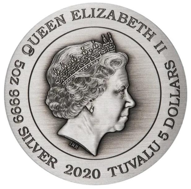Тувалу монета 5 долларов Знаки Зодиака, аверс