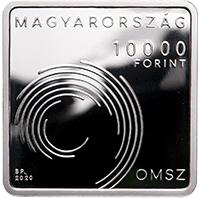 Венгрия монета 10000 форинтов 150-летия основания Венгерской метеорологической службы, аверс