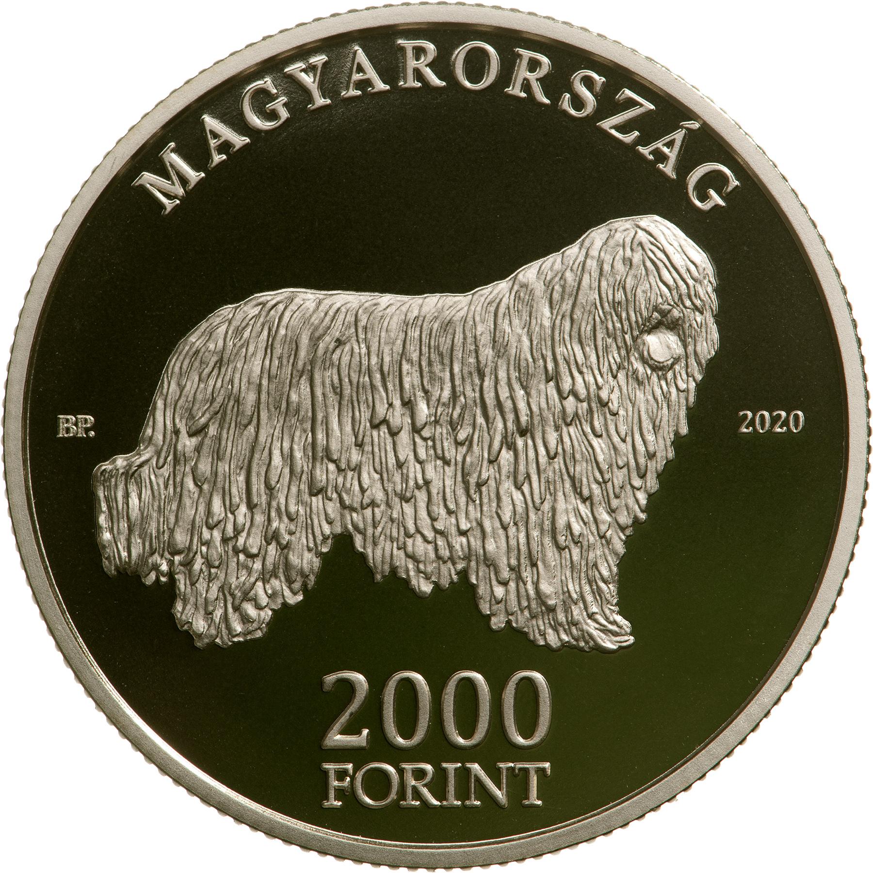 Венгрия монета 2000 форинтов Комондор, аверс