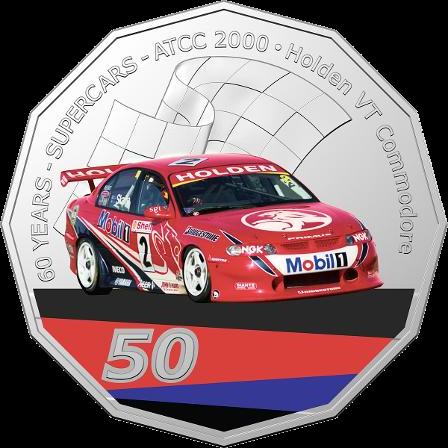 Австралия монета 50 центов Холден Коммодор (ВТ), реверс