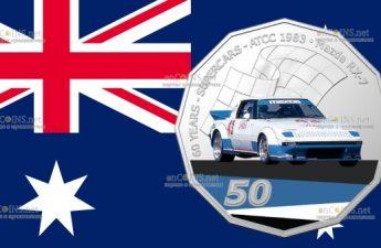 Австралия монета 50 центов Mazda RX-7