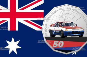 Австралия монета 50 центов Nissan R32 Skyline GT-R