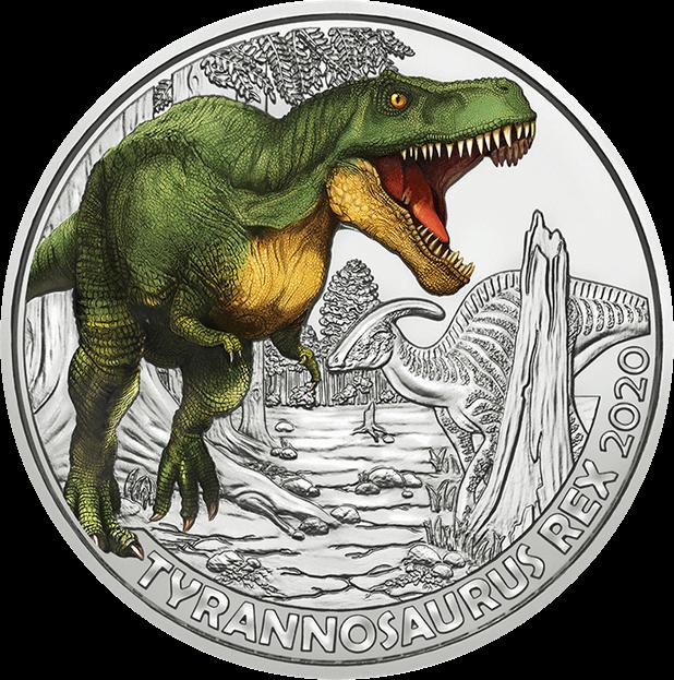Австрия монета 3 евро Тиранозавр Рекс, реверс