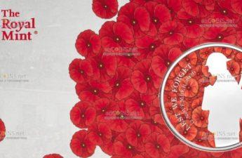 Британия монета 5 фунтов Неизвестный солдат Первой Мировой войны