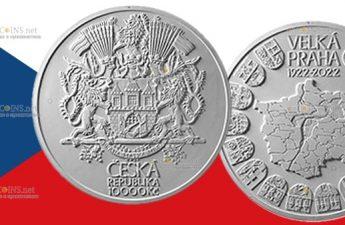 Чехия монета 10000 крон 100 лет со дня основания Великой Праги