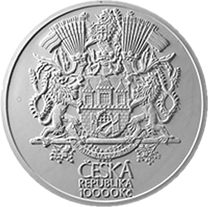 Чехия монетау 10000 крон 100 лет со дня основания Великой Праги, аверс