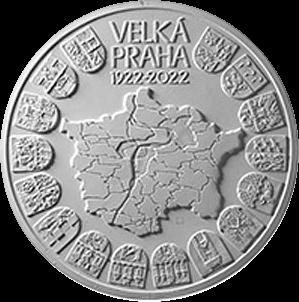 Чехия монета 10000 крон 100 лет со дня основания Великой Праги, реверс