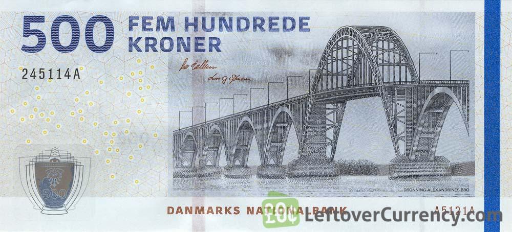 Дания 500 крон банкнота 2020 года выпуска, лицевая сторона