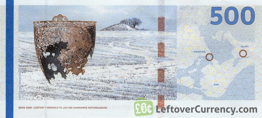 Дания 500 крон банкнота 2020 года выпуска, оборотная сторона