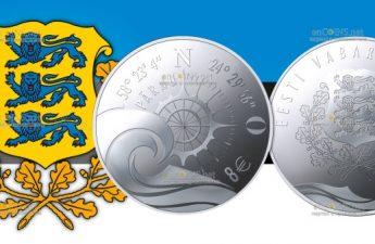 Эстония монета 8 евро Пярну