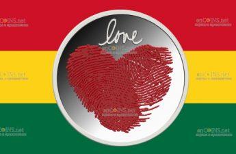 Гана монета 2 седи Любовная монета