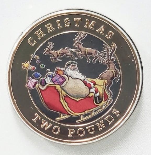 Гибралтар монета 2 фунта Рождество, реверс