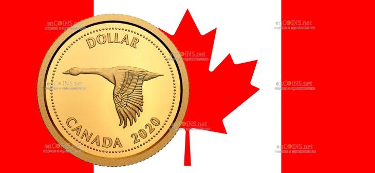 Канада монета 1 доллар канадский гусь
