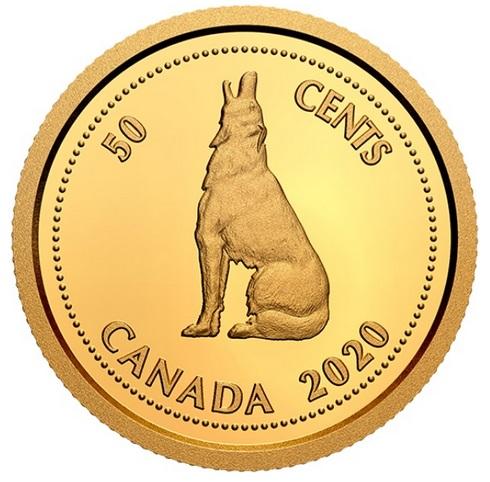 Канада монета 50 центов Канадский волк, реверс